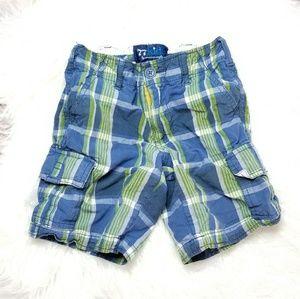 77kids Plaid Cargo Shorts
